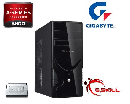 Computador para Escritório/Balcão FM2 A4 6300 3.9Ghz Memória DDR3 4GB SSD 120GB - Glacon