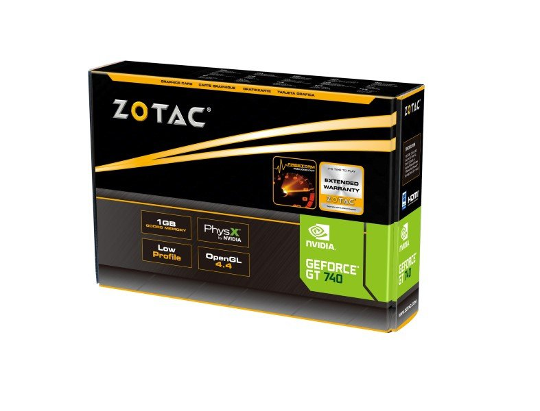 Placa de Vídeo Geforce GT 740 LP 1GB DDR5 128 Bits ZT-71003-10L - Zotac