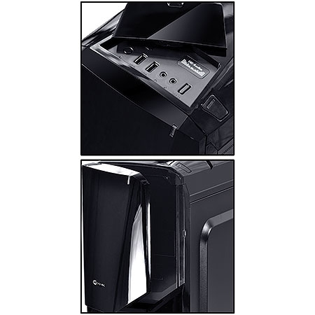 Gabinete Mid Tower Cyclone VX Gamer Preto 22607 - Vinik