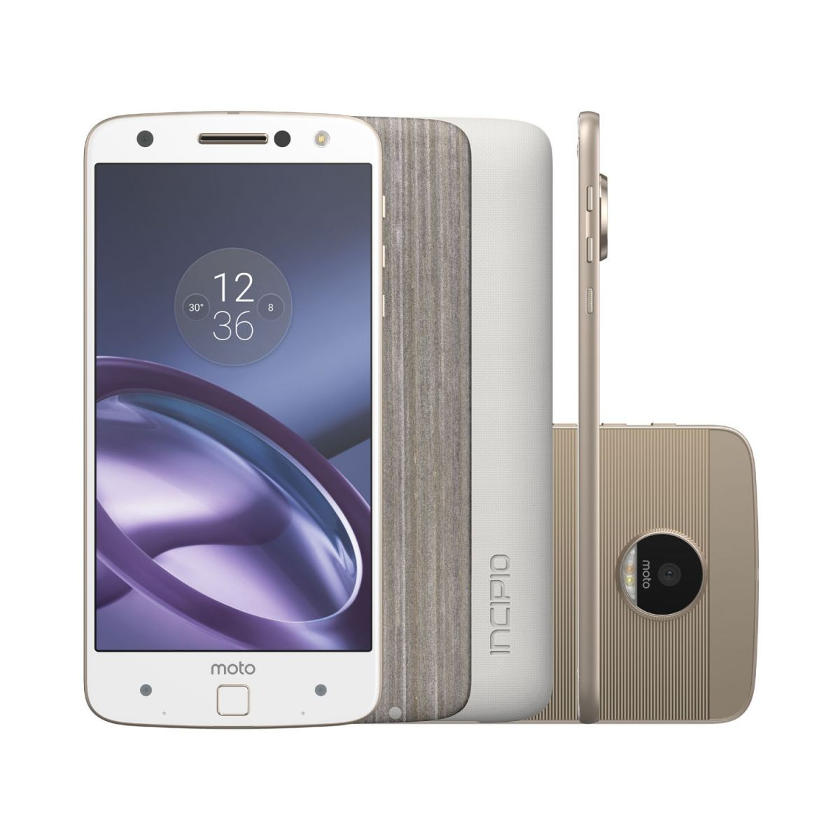 Smartphone Moto Z Power DC Edition 64GB Branco e Dourado Dual Chip 4G Câm. 13MP XT1650 - Motorola