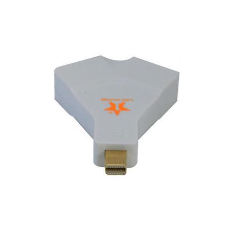 Conversor Mini Displayport 1.2 para HDMI e VGA Femea 4KX2K AD0266 - 1 mais
