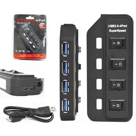 Hub USB 3.0 4 Portas 5Gbs 900mA HUB0037 - OEM