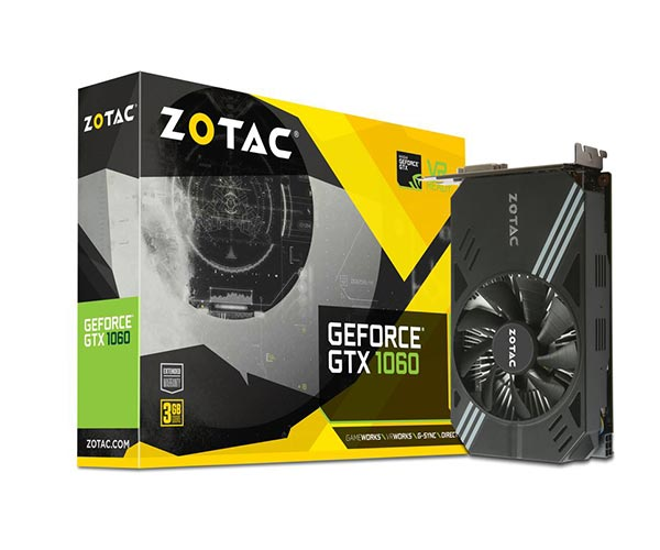 Placa de Video Geforce GTX 1060 3GB Mini ZT-P10610A-10L 192Bits - Zotac