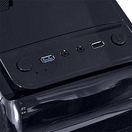 Gabinete Mid Tower VX Gaming Twister V2 Preto Led Azul USB 3.0 e Janela Acrílica 25348 - Vinik