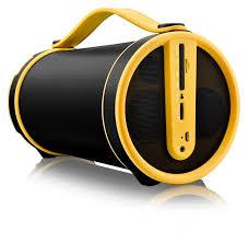 Caixa De Som Pulse Bazooka Bluetooth Preta/Amarela SP222 - Pulse