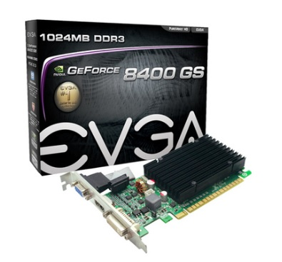 Placa de Vídeo Geforce 8400GS 1GB DDR3 01G-P3-1303-KR - EVGA