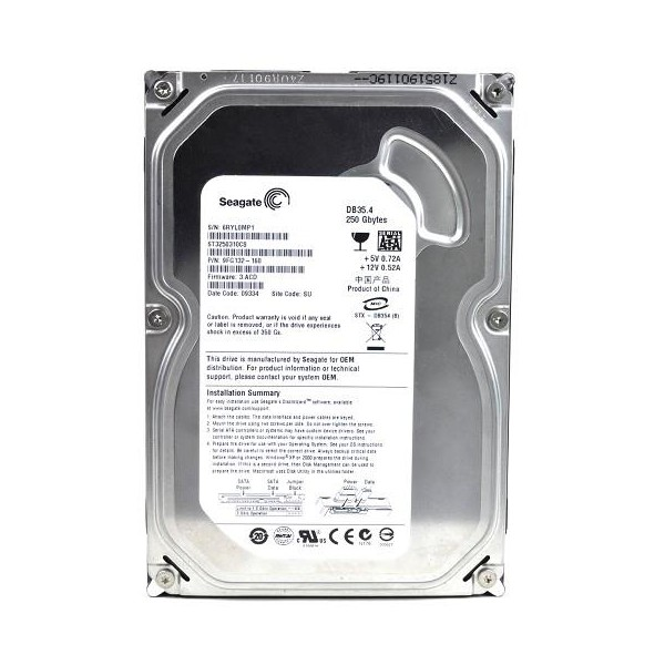 Hard Disk 250GB Sata 7200RPM ST3250310CS - Seagate