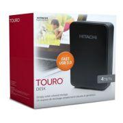 HD Externo 4TB Touro Desk USB 3.0 Preto 0S03404 (com fonte) 3.5 polegadas - Hitachi