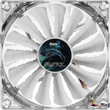 Cooler Shark Fan White Edition 120mm (LED Branco) EN55505 - Aerocool