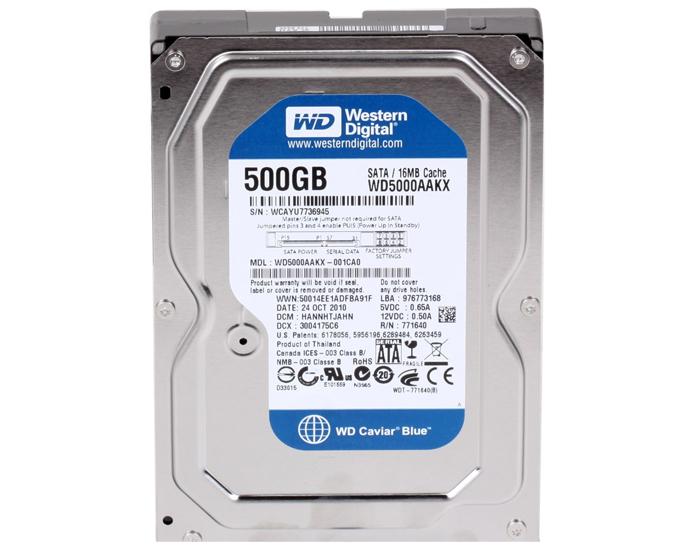 Hard Disk 500GB 7200RPM 16Mb Sata 3 WD5000AAKX - Western Digital