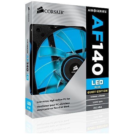 Cooler Para Gabinete AIR Series AF140 Quiet Edition LED AZUL 140mm x 25mm CO-9050017-BLED - Corsair