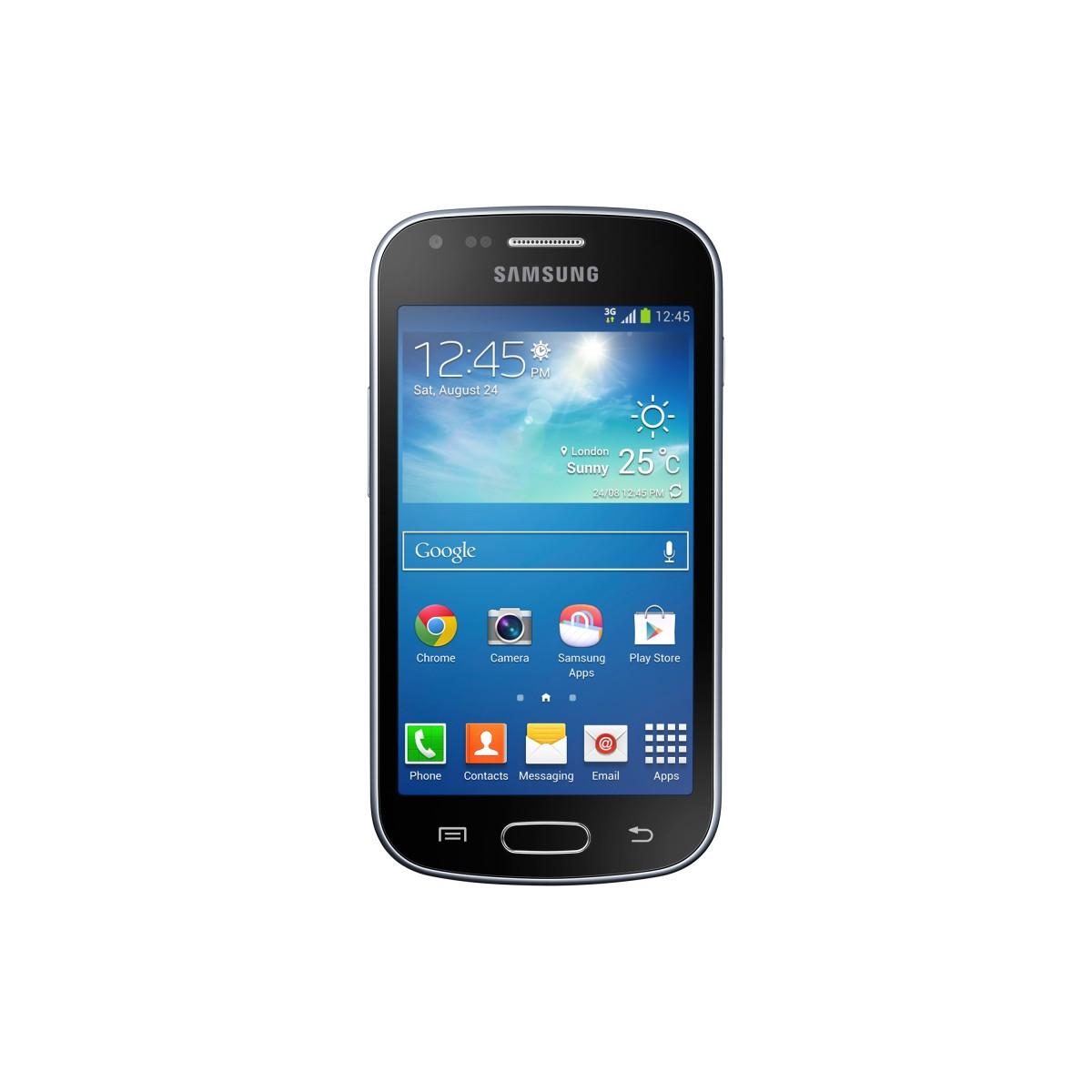 Smartphone Galaxy S Duos GT-S7582L Preto com Processador Dual Core 1.2 GHz, Tela de 4.0, Android 4.2, 3G e Wi-Fi