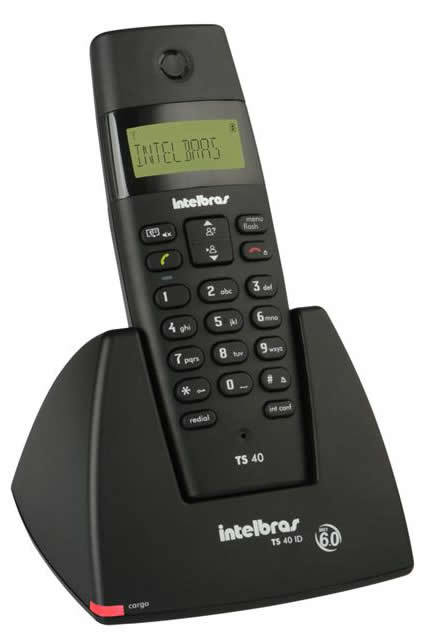 Telefone S/Fio TS40ID Preto - Intelbras