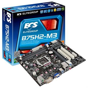 Placa Mae LGA 1155 B75H2-M3 (1.0) (S/V/R) - ECS