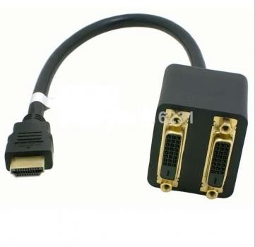 Cabo Adap Duplicador HDMI 1 Entrada 2 Saidas DVI Femea CB161