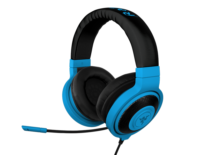 Fone de Ouvido com Microfone Kraken Pro Neon Azul RZ04-00870800-R3M1 - Razer