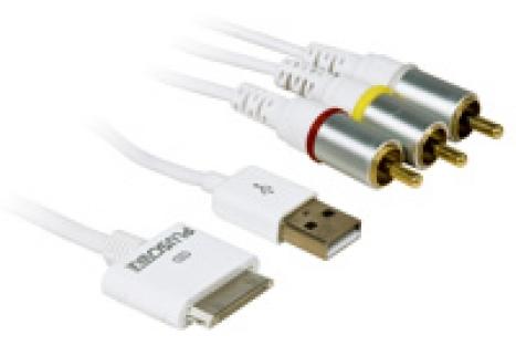Cabo de Audio e Video para iPod e iPhone com 1.5m CBAVI1501