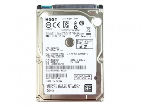Hard Disk para Notebook 1TB Sata III 8MB 5400RPM HTS541010A9E680 (0J22413) - Hitachi