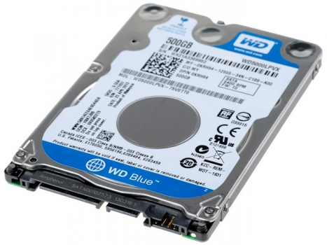 Hard Disk Para Notebook 500GB Sata III WD5000LPVX 2.5- Western Digital