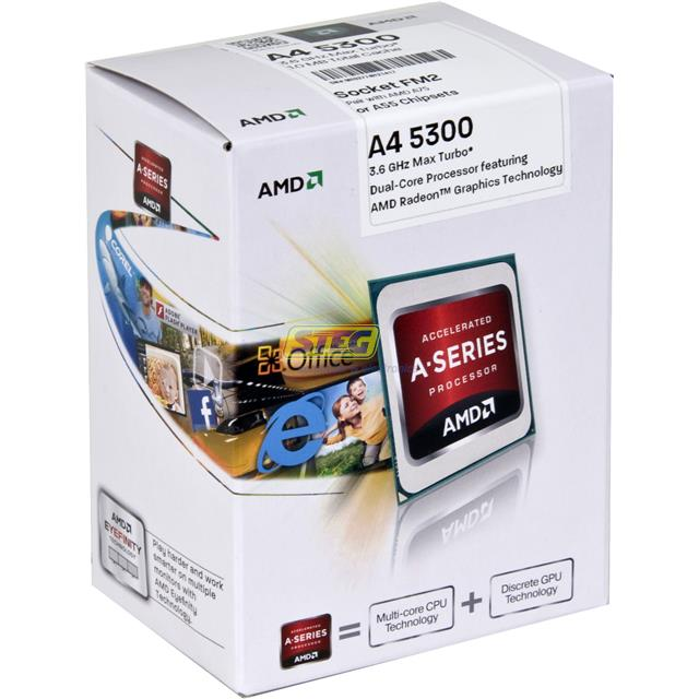 Processador A4 5300 3.6GHz Max Turbo 1.0MB Total Cache FM2 AD5300OKHJBOX
