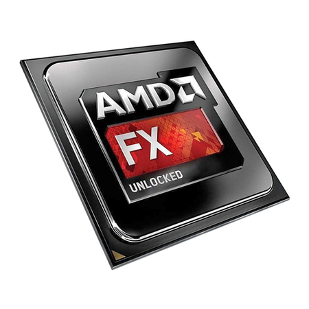 Processador AMD AM3 FX 9590 Octa Core Black Edition 4.7Ghz  5.0Ghz Max Turbo 16MB FD9590FHHKWOF S Cooler
