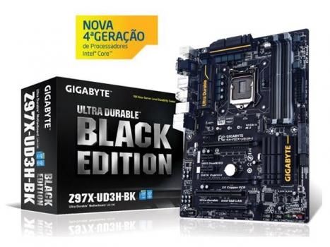Placa Mãe LGA 1150 Black Edition GA Z97X-UD3H-BK (S/V/R) - Gigabyte