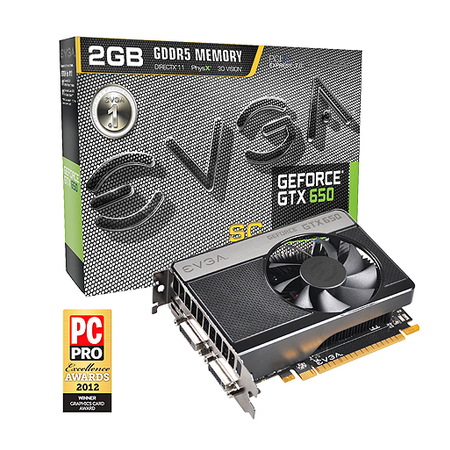 Placa de Video GeForce GTX650SC 2GB DDR5 128Bits Super Clock 02G-P4-2653-KR - EVGA