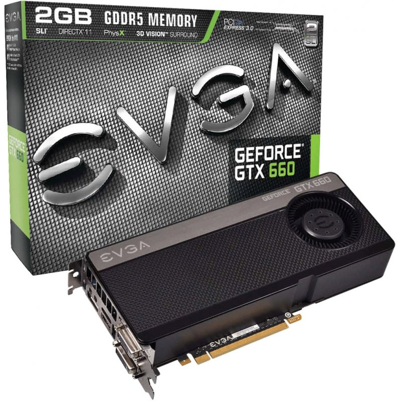 Placa de Video GeForce GTX660 2GB DDR5 192Bits Blower Fan 02G-P4-2660-KR - EVGA