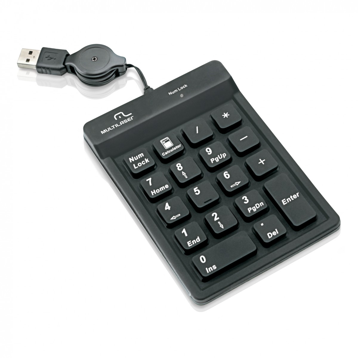 Teclado Numerico USB Preto TC096 - Multilaser