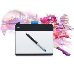 Mesa Digitalizadora Pequena Intuos Manga Cth480SL e Caneta Sensivel a Pressao - Wacom