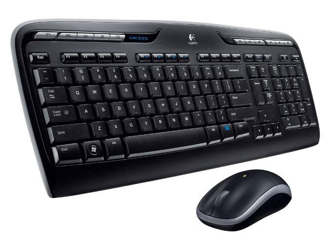 Teclado e Mouse Optico Multimidia Sem Fio USB MK320 - Logitech