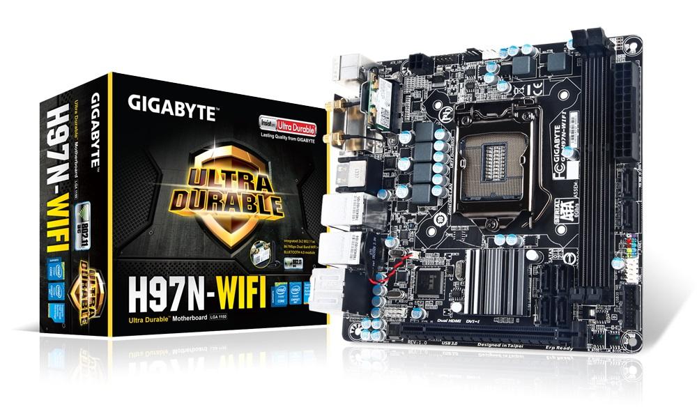 Placa Mãe LGA 1150 GA-H97N-WIFI Mini ITX (S/V/R) - Gigabyte