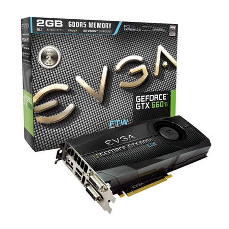 Placa de Video GeForce GTX660TI 2GB DDR5 192Bits FTW 02G-P4-3667-KR - EVGA