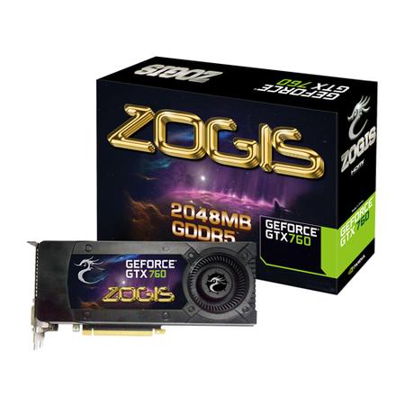 Placa de V�deo GeForce GTX760 2GB DDR5 256B ZOGTX760-2GD5H - Zogis