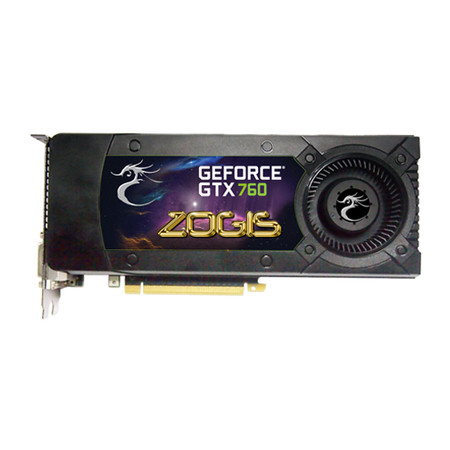 Placa de Vídeo GeForce GTX760 2GB DDR5 256B ZOGTX760-2GD5H - Zogis