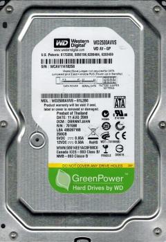 Hard Disk 250GB Sata II 8MB 5400RPM WD2500AVVS - Western Digital