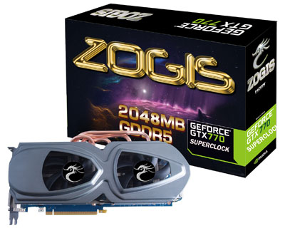 Placa de Video GeForce GTX770 2GB DDR5 256Bits Superclock ZOGTX770-2GD5SC - Zogis