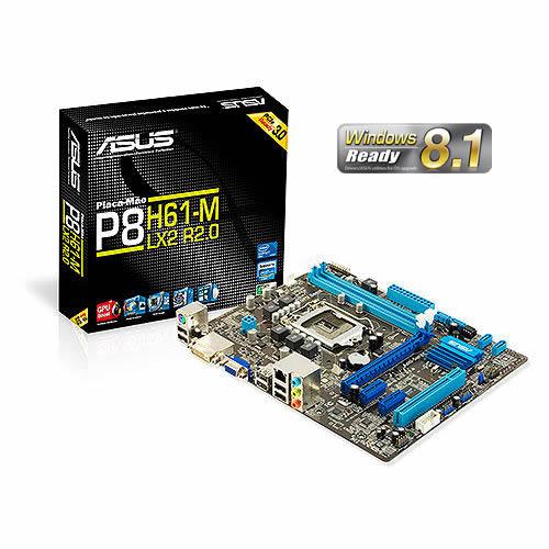 Placa M�e LGA 1155 P8H61-M LX2 R2.0 (S/V/R) - ASUS