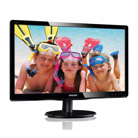 Monitor LED 23 Widescreen Full HD, VGA/DVI - 236V4LSB - Black Piano - Philips