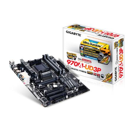 Placa Mãe AM3 GA-970A-UD3P (S/R/V) Suporta processador 125W - Gigabyte