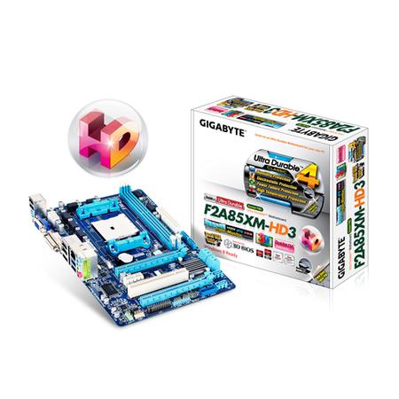 Placa Mãe AMD GA-F2A85XM-HD3 FM2 SATA 6Gb/S USB 3.0 Micro ATX - Gigabyte