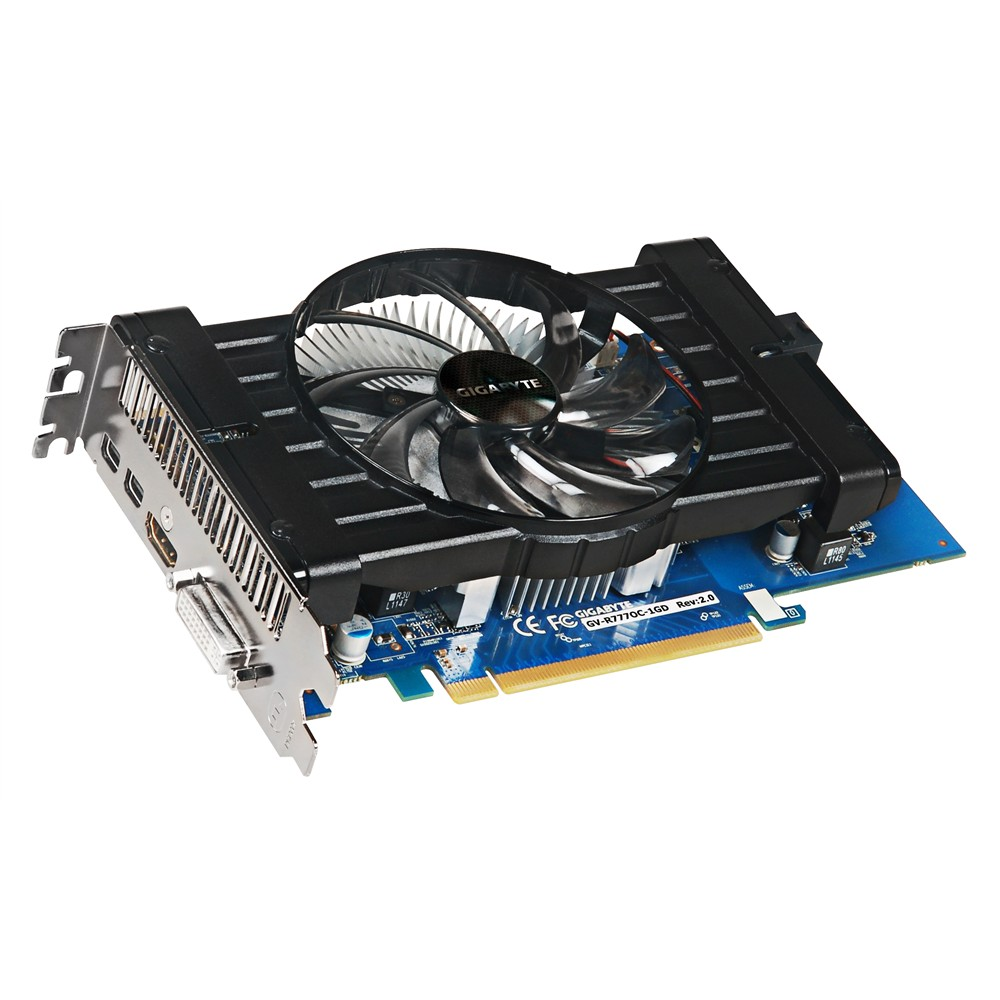Placa de Video ATI HD7770 1GB DDR5 128Bits GV-R777OC-1GD Rev 2.0 - Gigabyte
