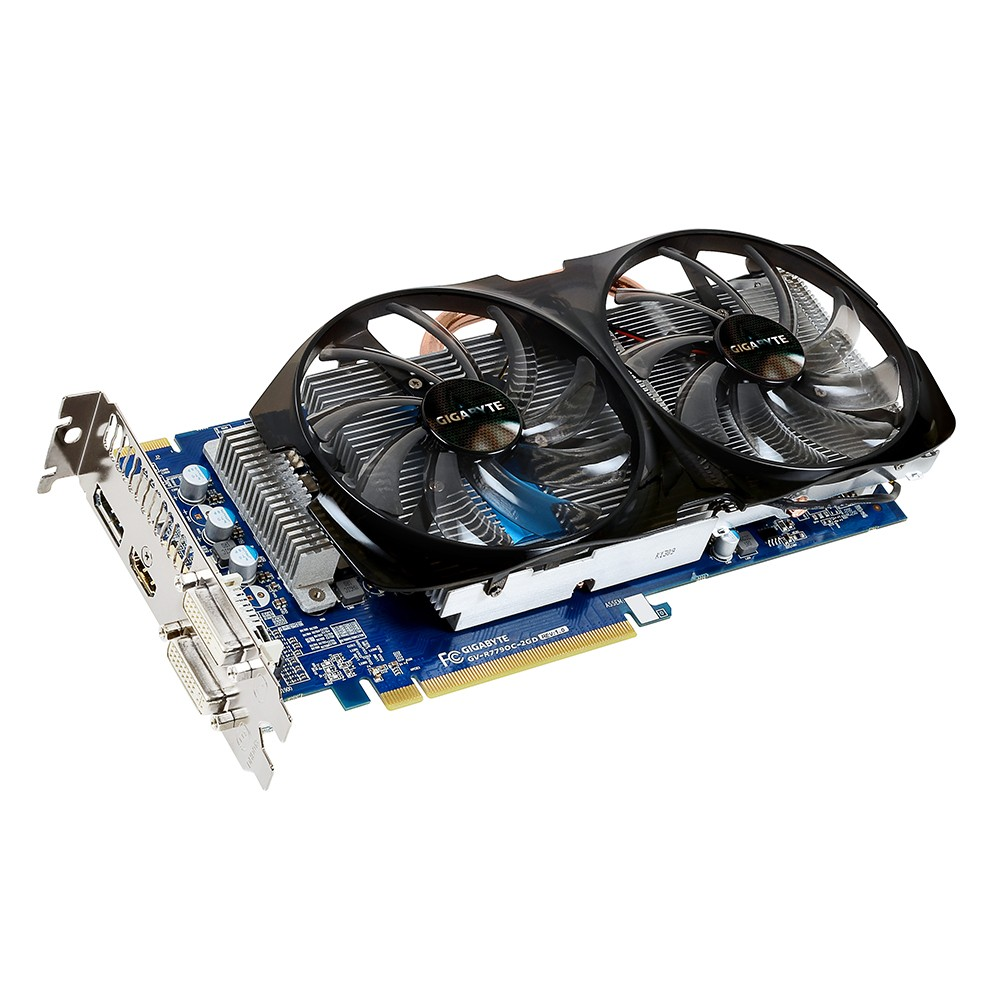 Placa de Video ATI HD7790 2GB DDR5 128Bits WindForce GV-R779OC-2GD - Gigabyte