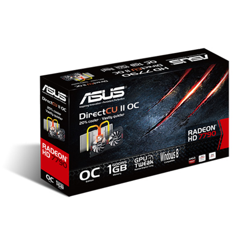 Placa de Video ATI HD7790 1GB DDR5 128Bits HD7790-DC2OC-1GD5 - Asus