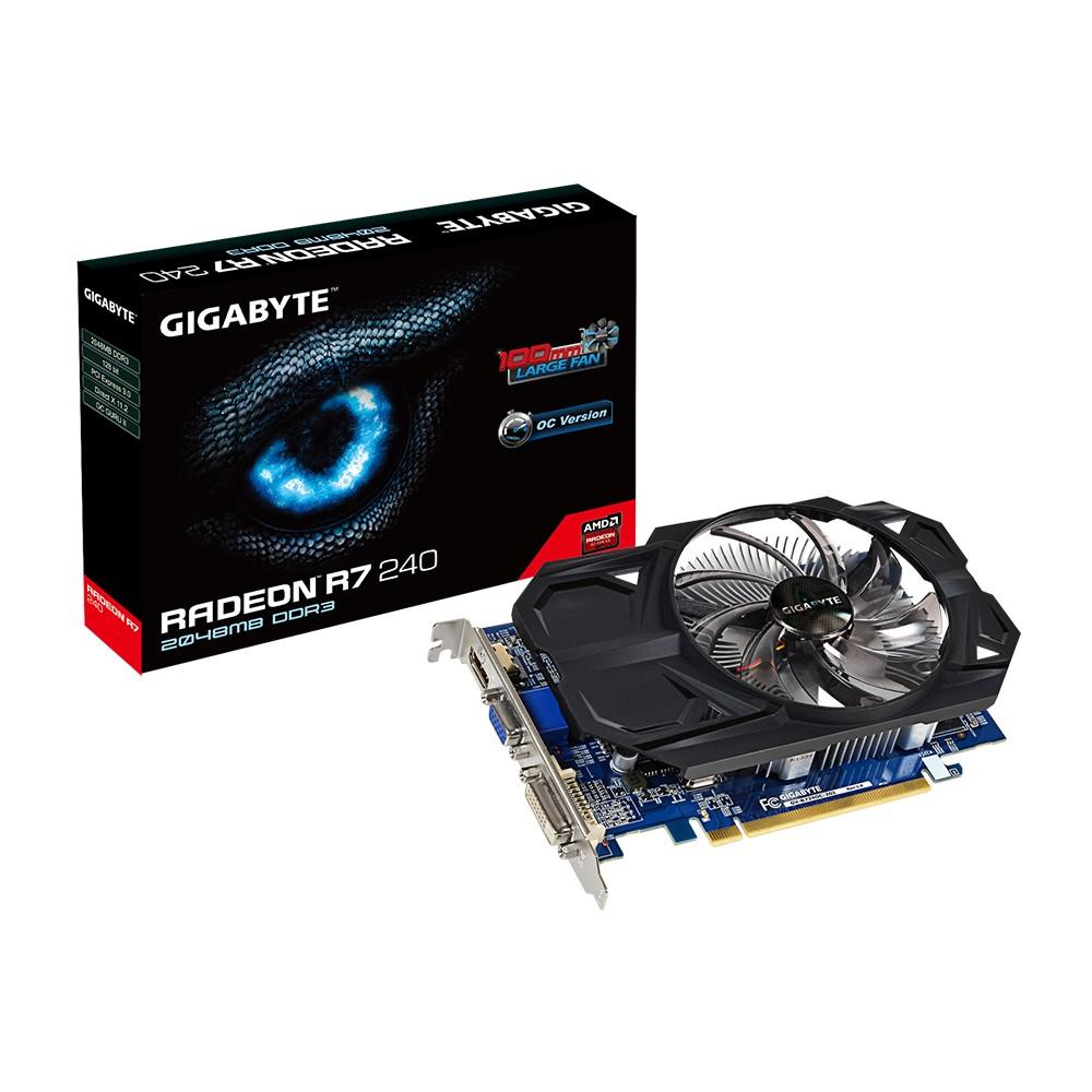 Placa de Video ATI R7 240 2GB DDR3 128Bits OC Fansink GV-R724OC-2GI - Gigabyte