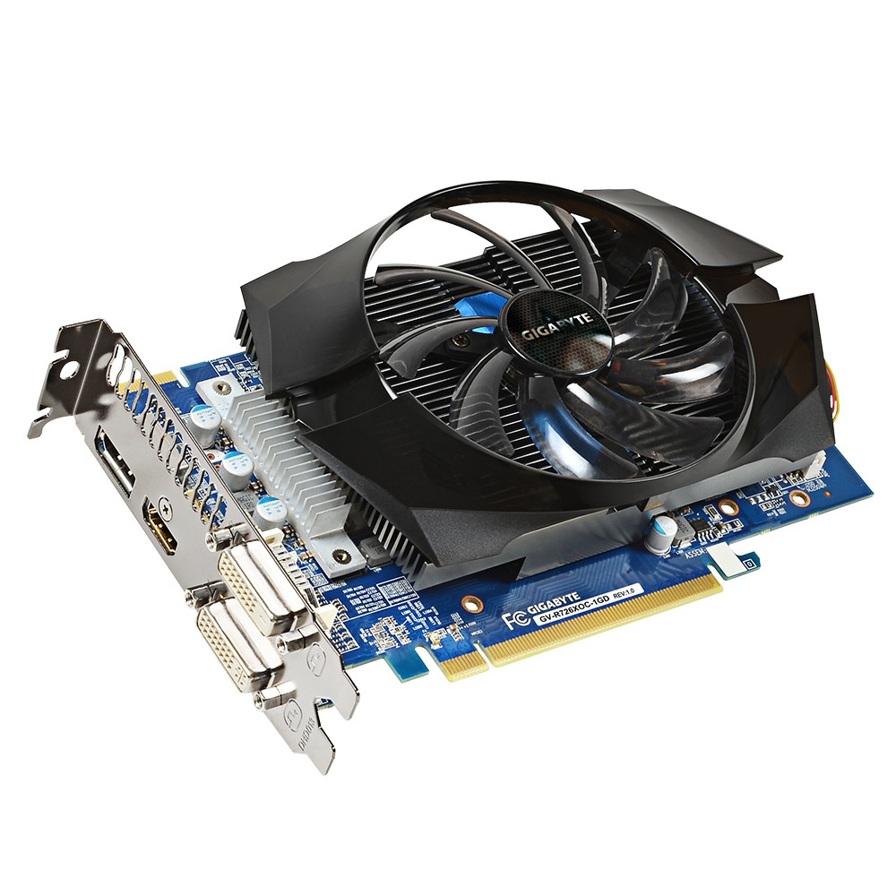 Placa de Video ATI R7 260X 1GB DDR5 128Bits OC Fansink 100mm GV-R726XOC-1GD - Gigabyte