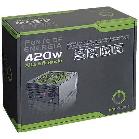 Fonte ATX 420W Real MP420W PFC Passivo - One Power