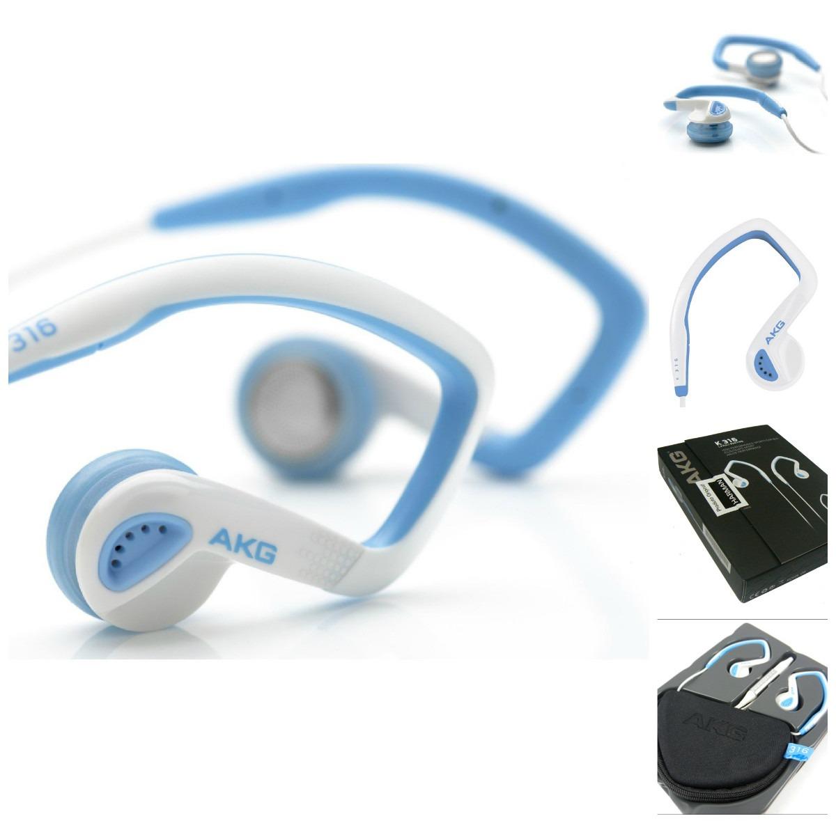 Fone de Ouvido Auricular Esporte K316 Azul - AKG