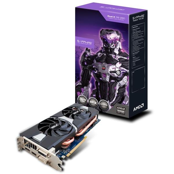 Placa de Video ATI R9 280 3GB DDR5 384Bits DUAL-X OC WITH BOOST 11230-00-20G - Shappire