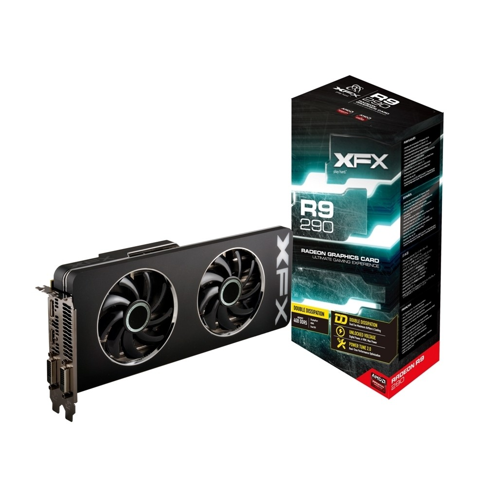 Placa de Video ATI R9 290 4GB DDR5 512Bits Double Dissipation Edition R9-290A-EDFD - XFX